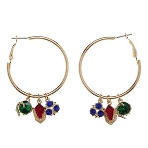 The Legend of Zelda Hoop Earrings Spiritual Stones